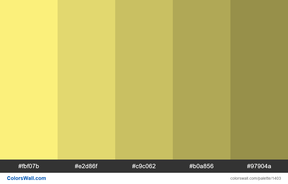 Light yellow shades - #1403