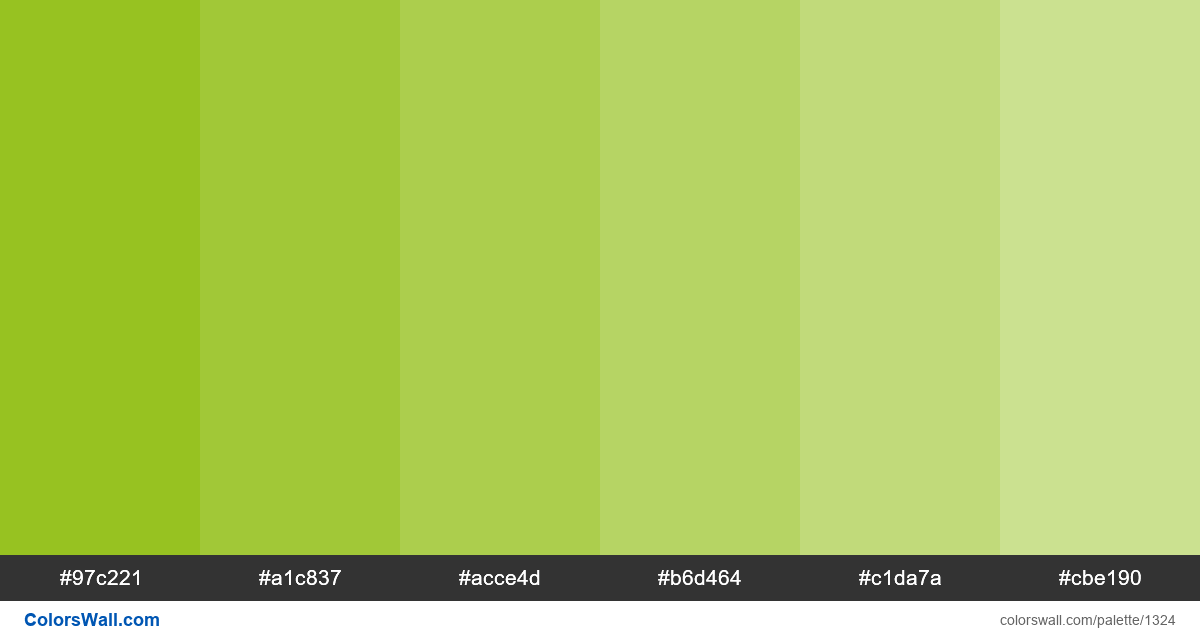 Lime tints colours - #1324