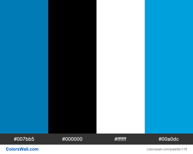 LinkedIn colors palette - #178
