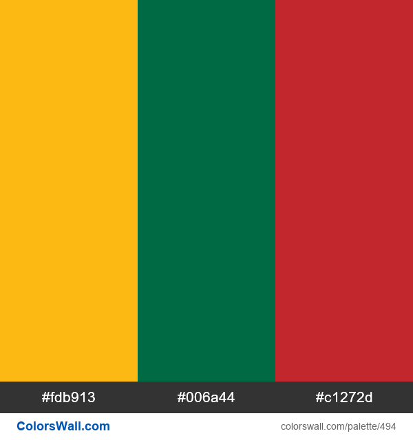 Lithuania flag colors - #494