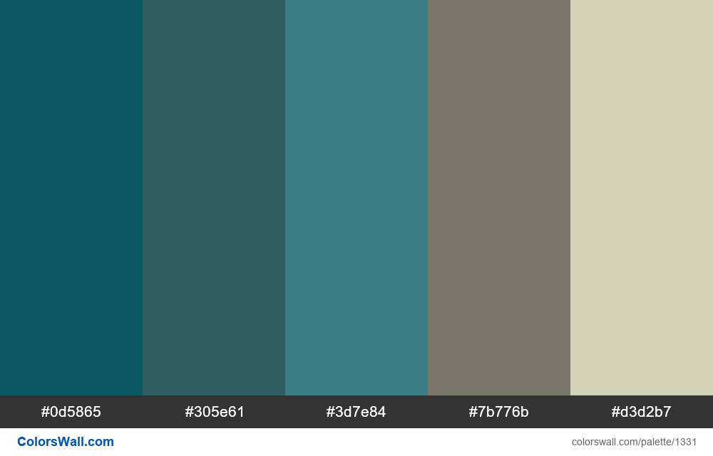Living room colors palette - #1331