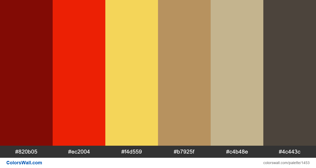 Living room colors palette - #1453