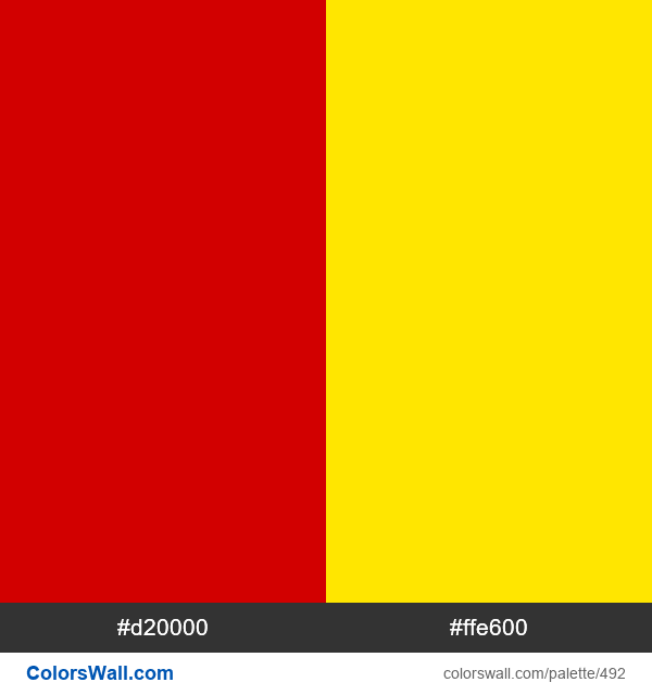 Macedonia (FYROM) flag colors - #492