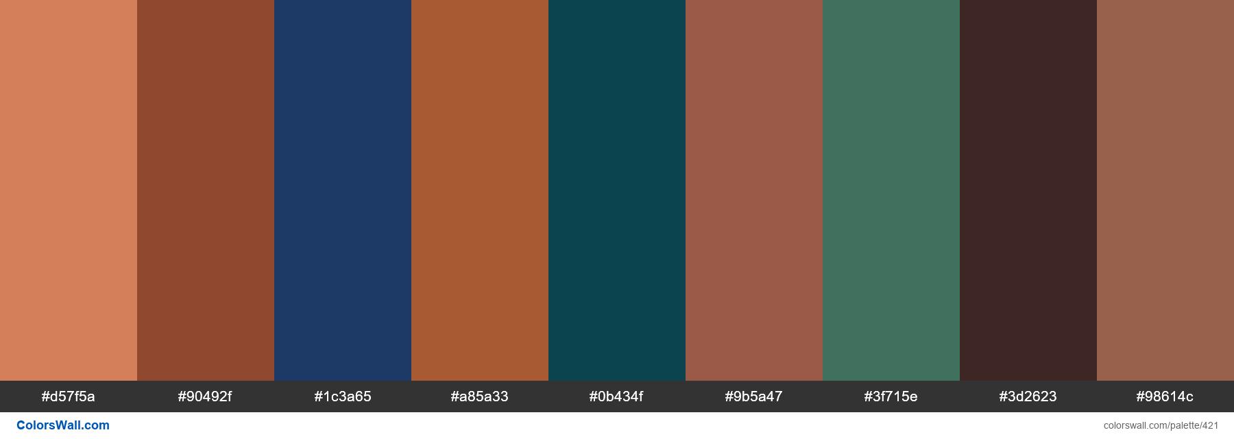 Makeup color palette - #421