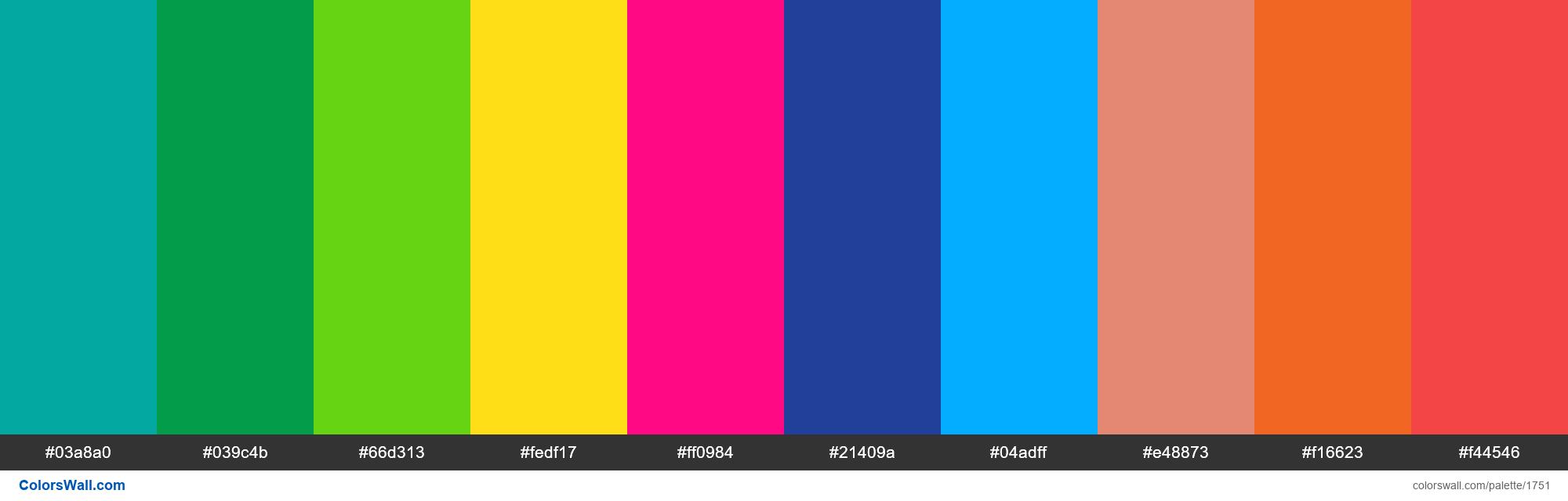 Map marker colors palette - #1751