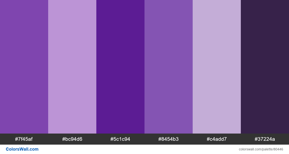 Minimal illustration ui flat colors palette - #80446