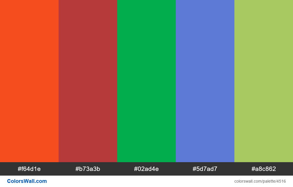 Modern web site colors #2 - #4516