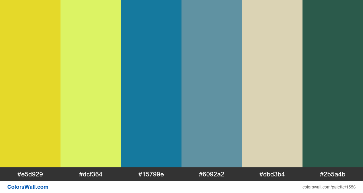 Modern website colors palette #2 - #1556
