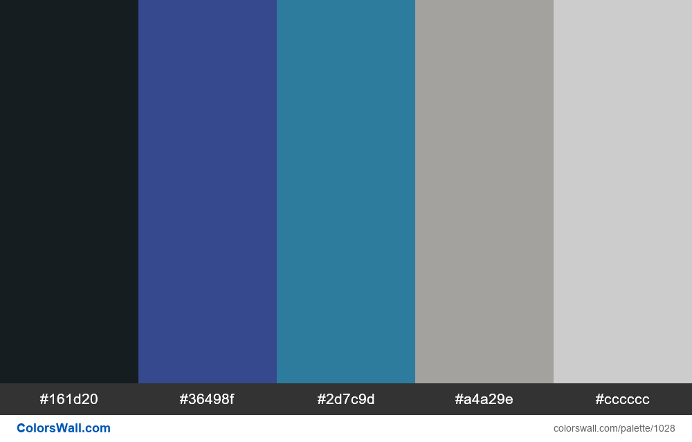 Modren Dark Dashboard color palette - #1028