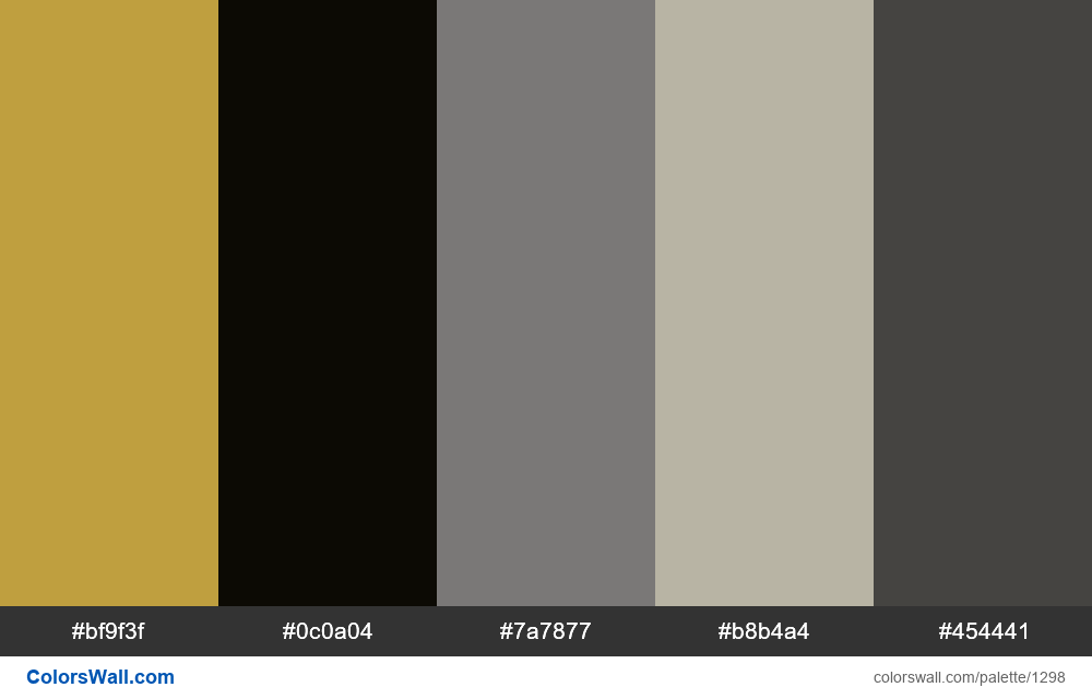Moon photo colors palette - #1298