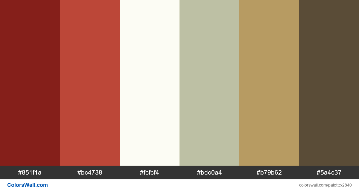 My City Day colors palette - #2840