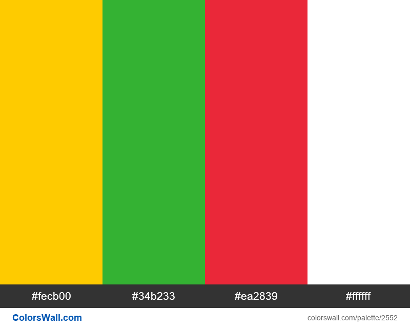 Myanmar flag colors - #2552