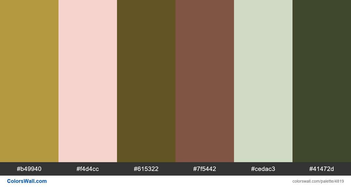 natural uxdesign shop colors palette - #4819