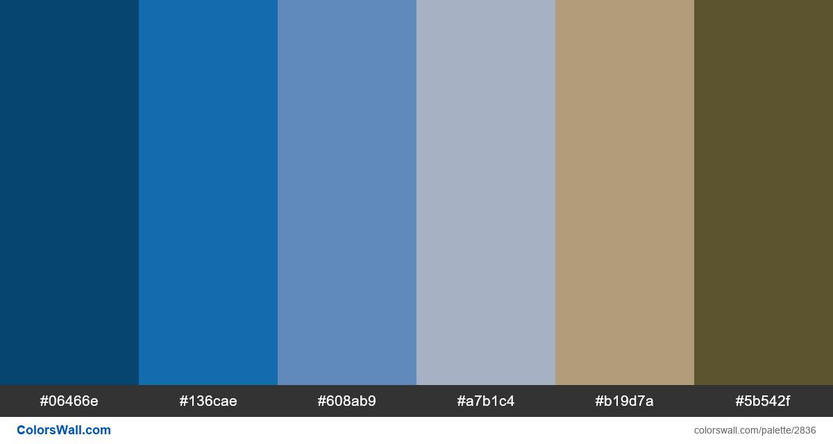Nature colors palette - #2836