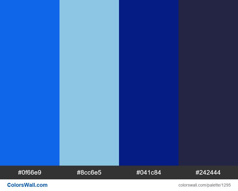 Neon blue colors palette - #1295