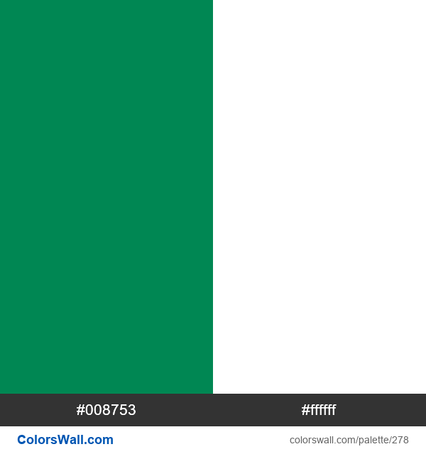 Nigeria flag colors - #278