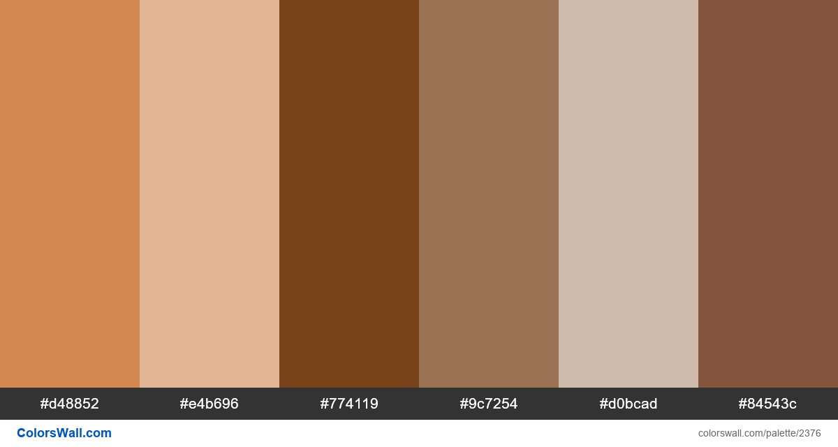 Nutty colors palette - #2376