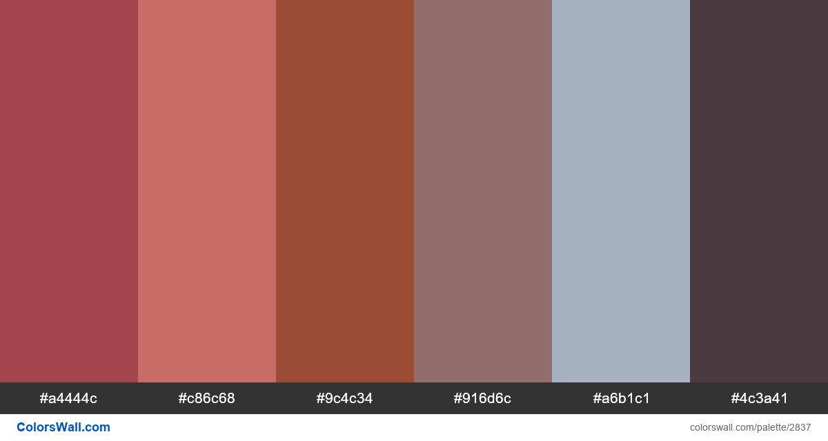 Old building colors palette - #2837