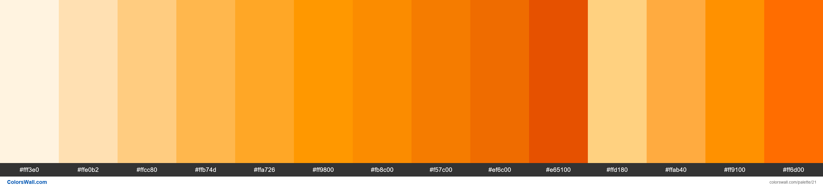 Orange palette Materialize CSS - #21