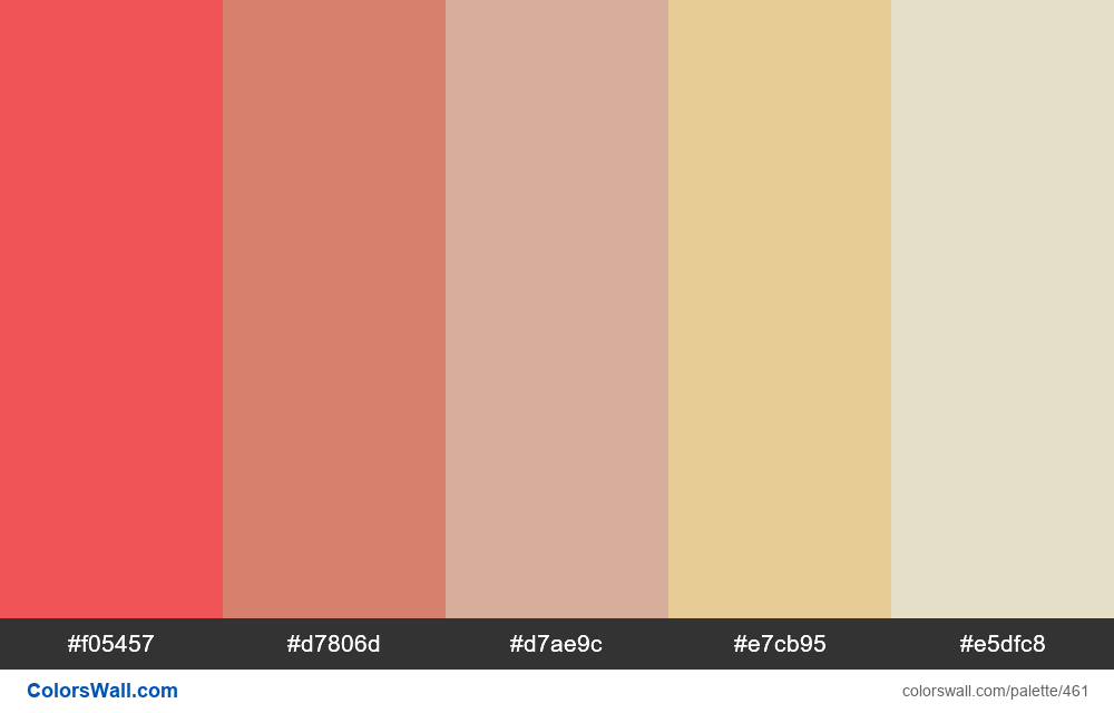 Pastel Flowers colors palette - #461