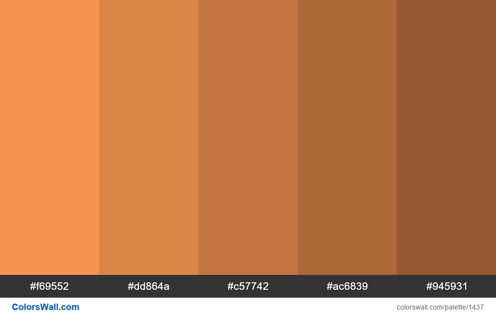 Pastel orange shaded 5 colours - #1437