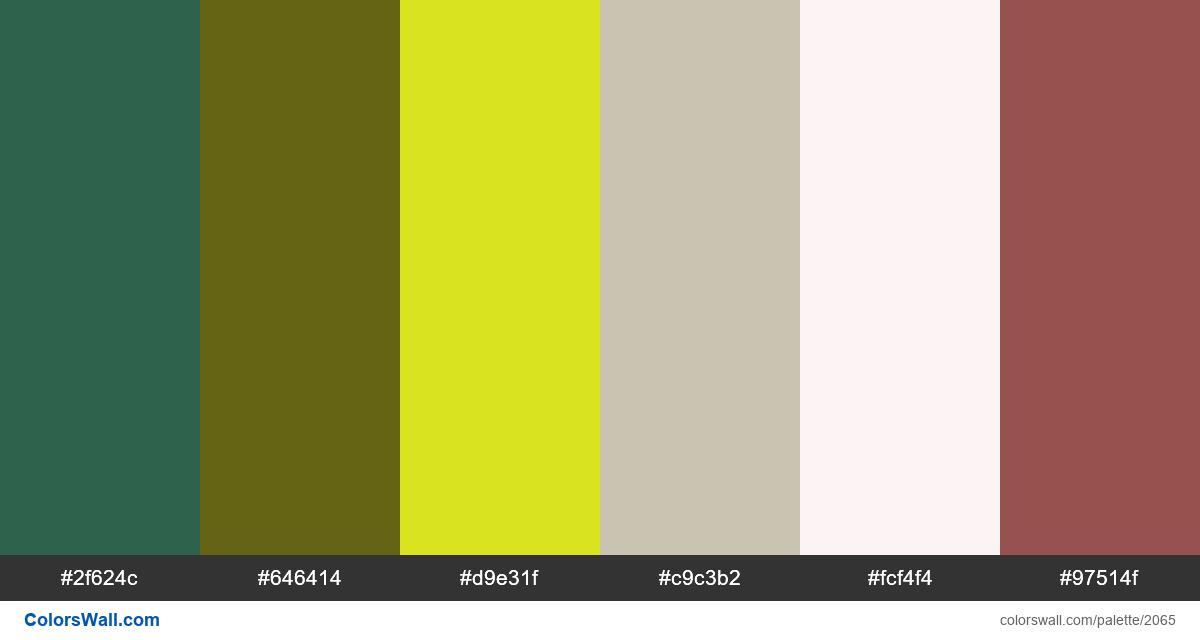 Pastel palette colors - #2065