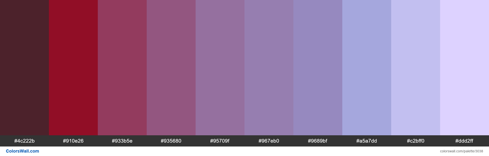 PEP red-purple - #3038