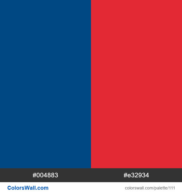 Pepsi colors palette - #111
