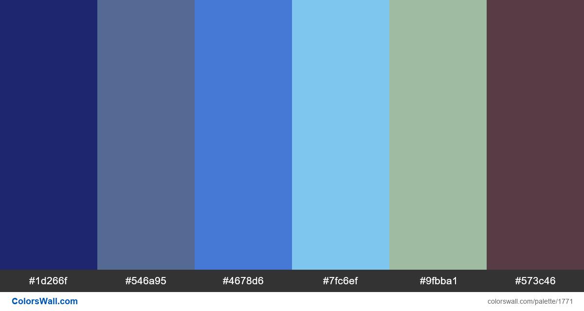 Pixel art colors palette #2 - #1771