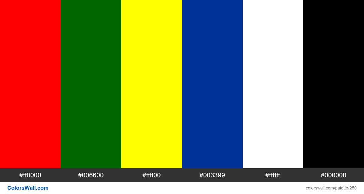 Portugal flag colors - #250