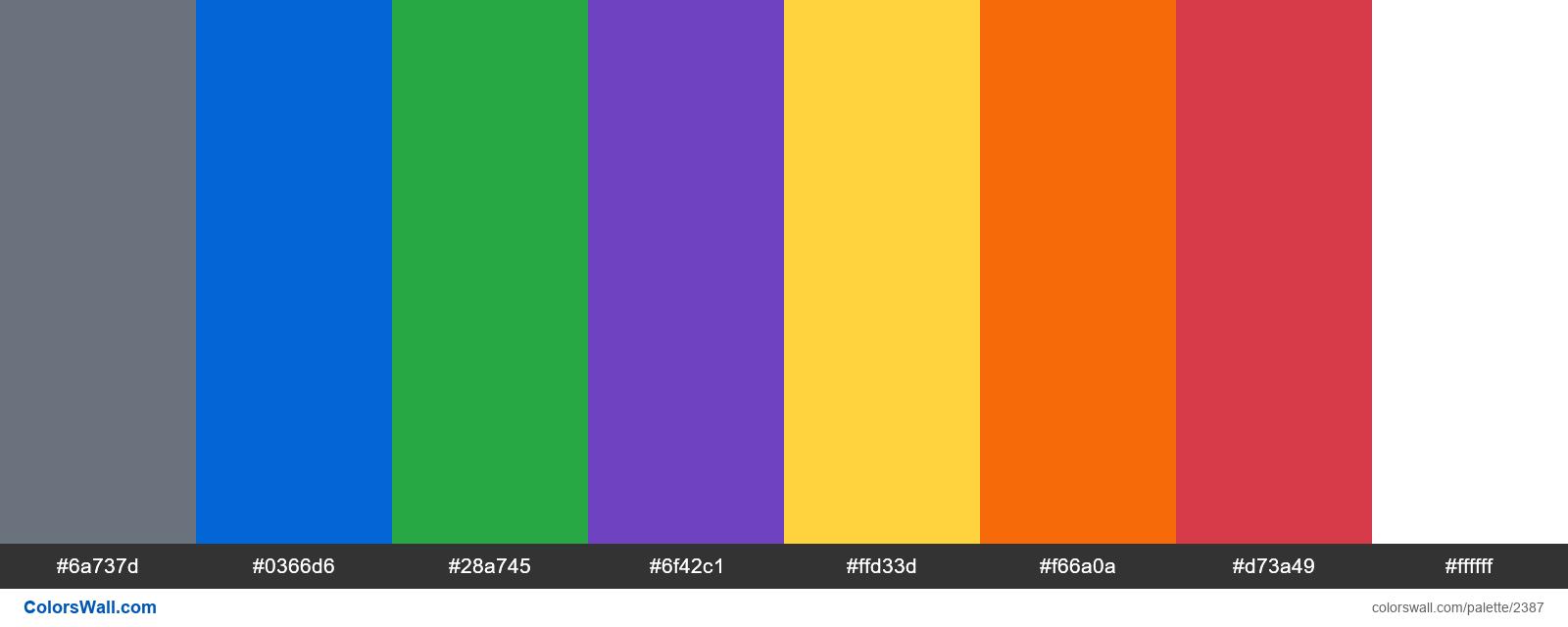 Primer CSS framework Color system - #2387