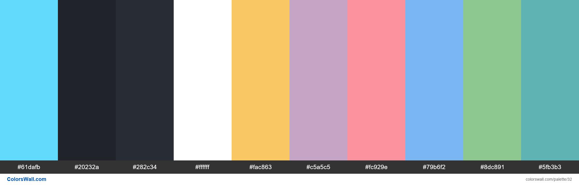 Reactjs colors palette - #32
