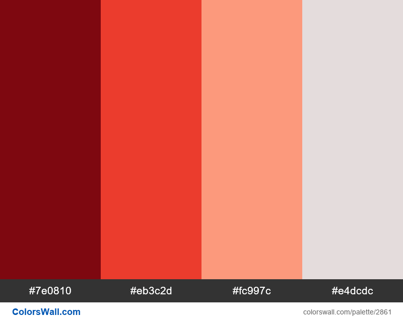 Red colors www website palette - #2861