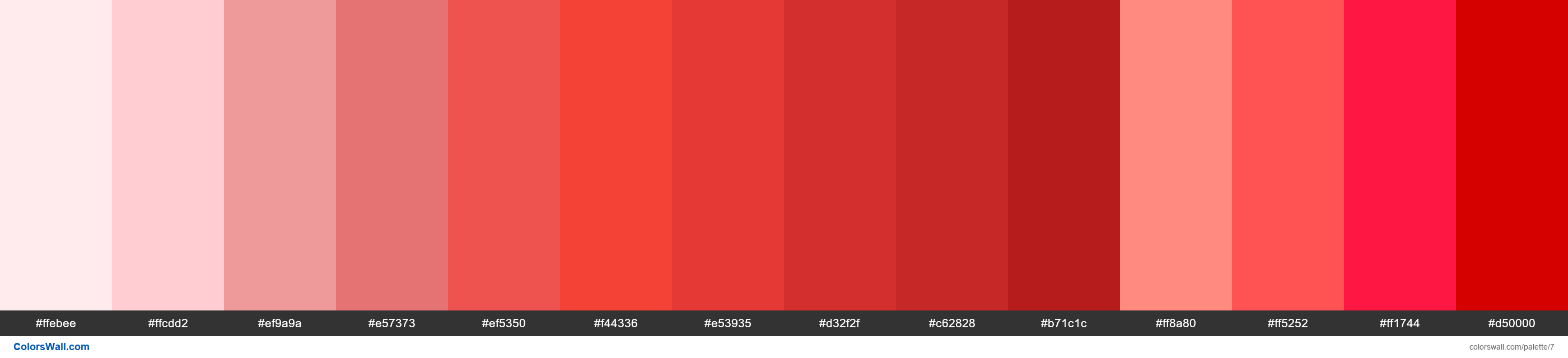 Red palette Materialize CSS - #7