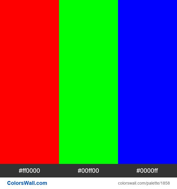 Red Triadic scheme - #1858