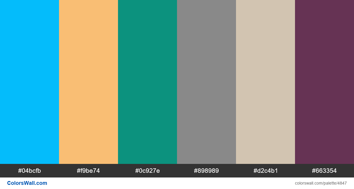 Retro design web colors palette - #4847
