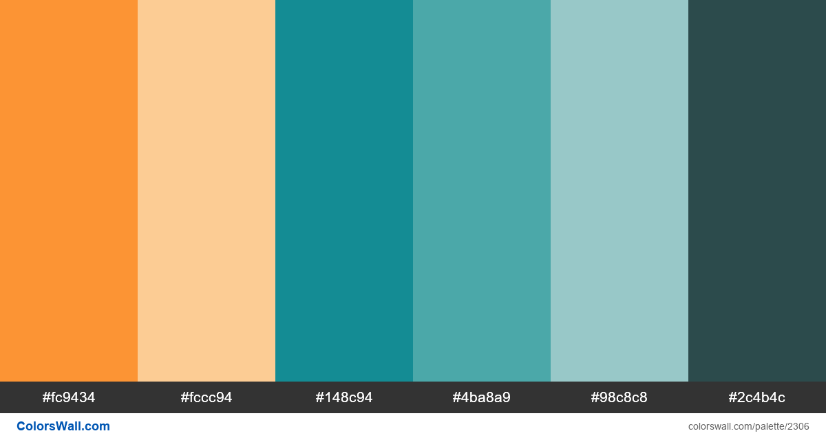 Retro poster colors scheme - #2306