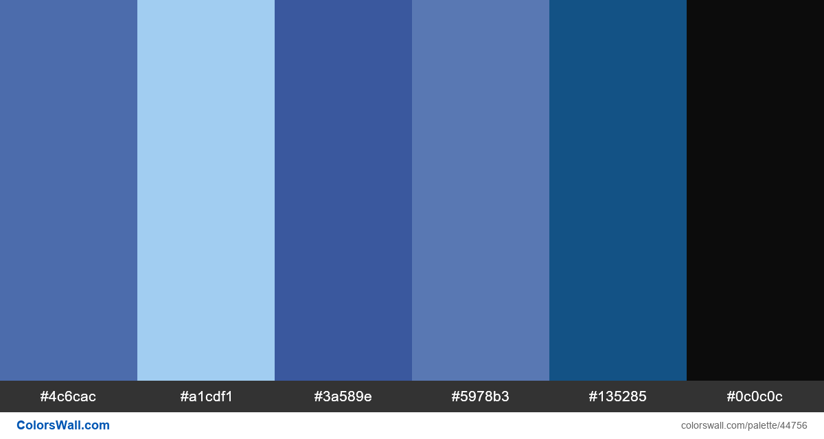Rhyme typography blue type palette - #44756