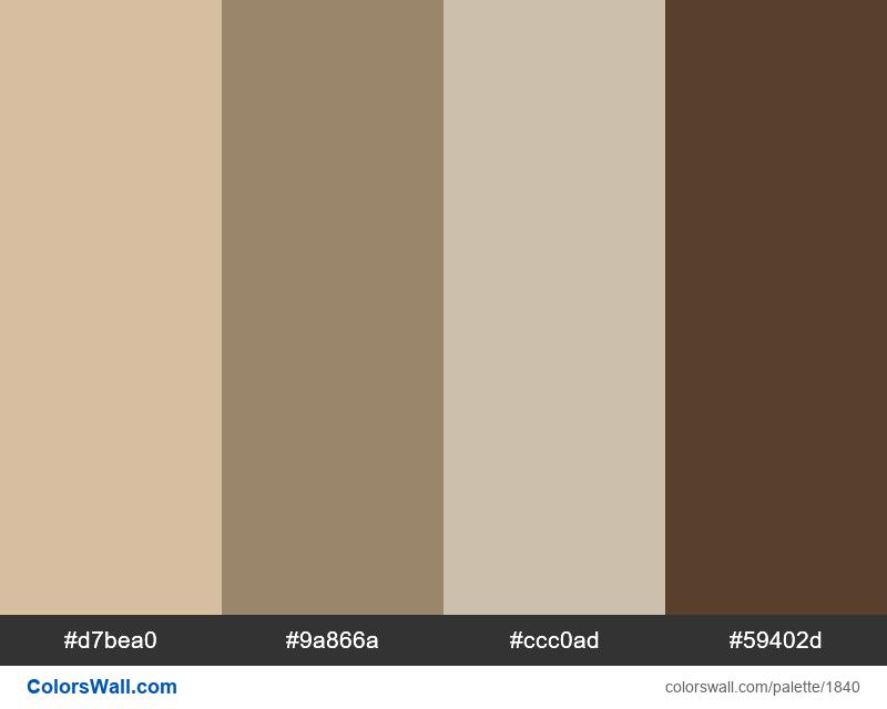 Room colors palette - #1840