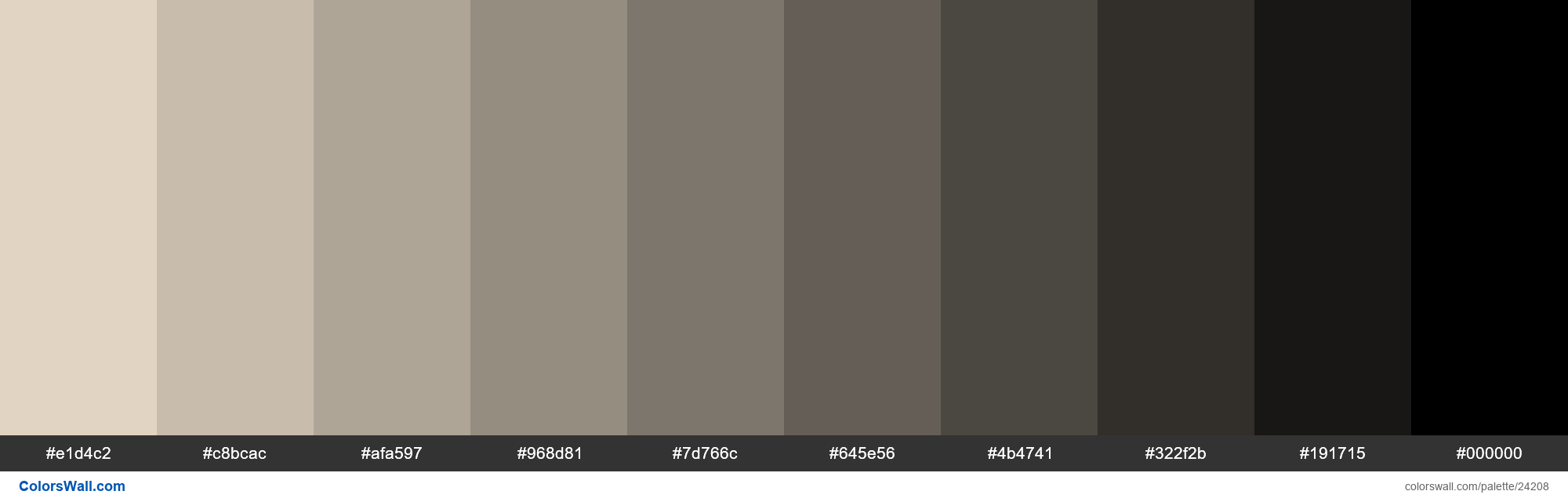 Shades of AntiqueWhite #FAEBD7 hex color - #24208