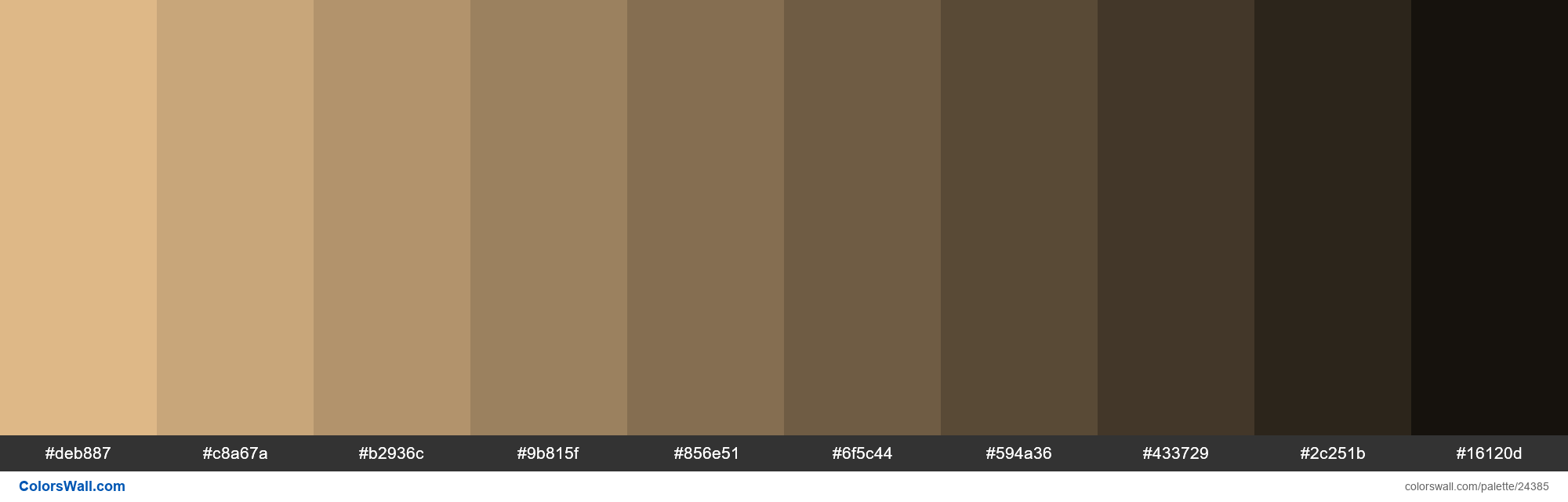 Shades of Burly Wood #DEB887 hex color - #24385