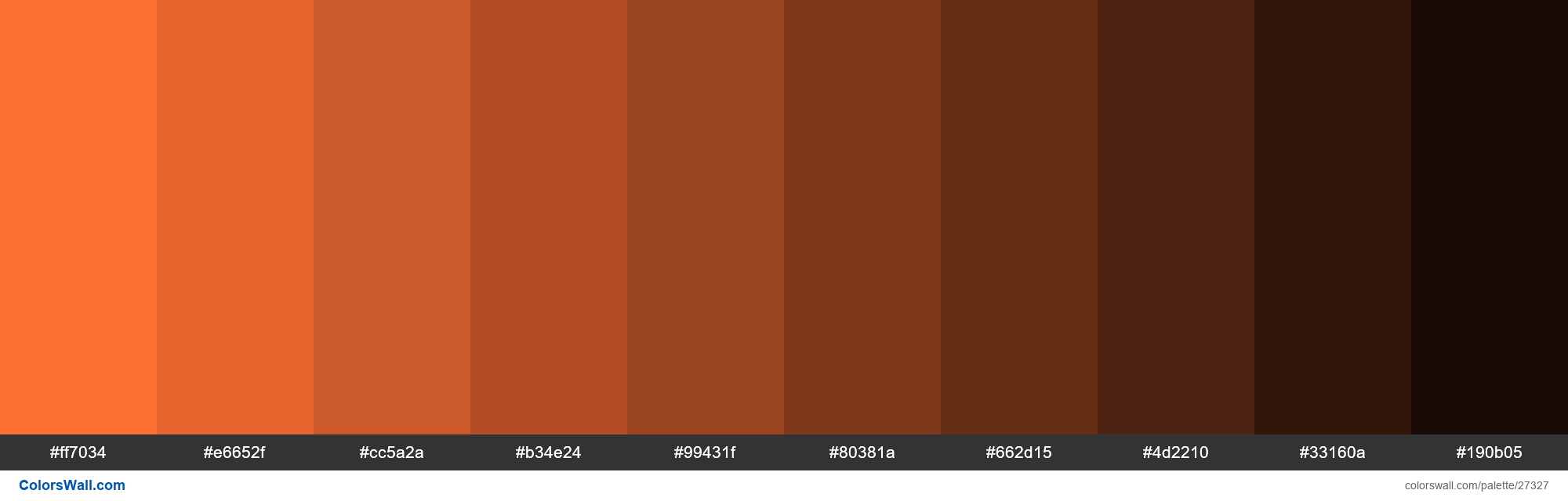 Shades Of Burnt Orange Color Ff7034 Hex Hex Rgb Codes