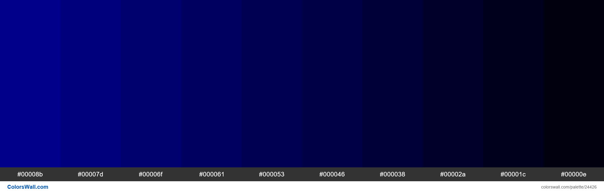 Shades of Dark Blue #00008B hex color - #24426