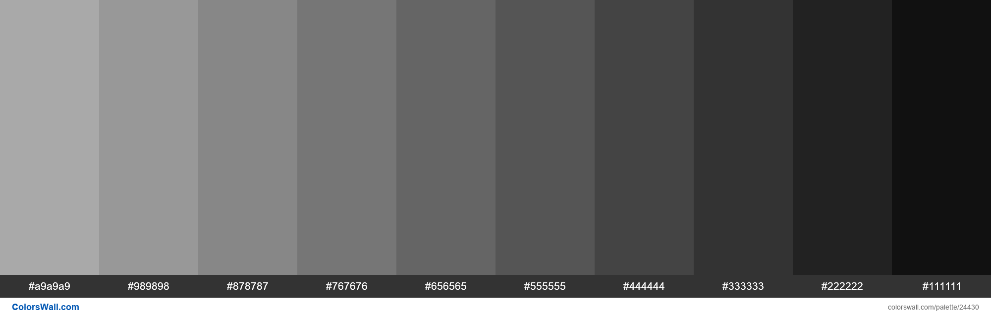 Shades of Dark Gray #A9A9A9 hex color - #24430