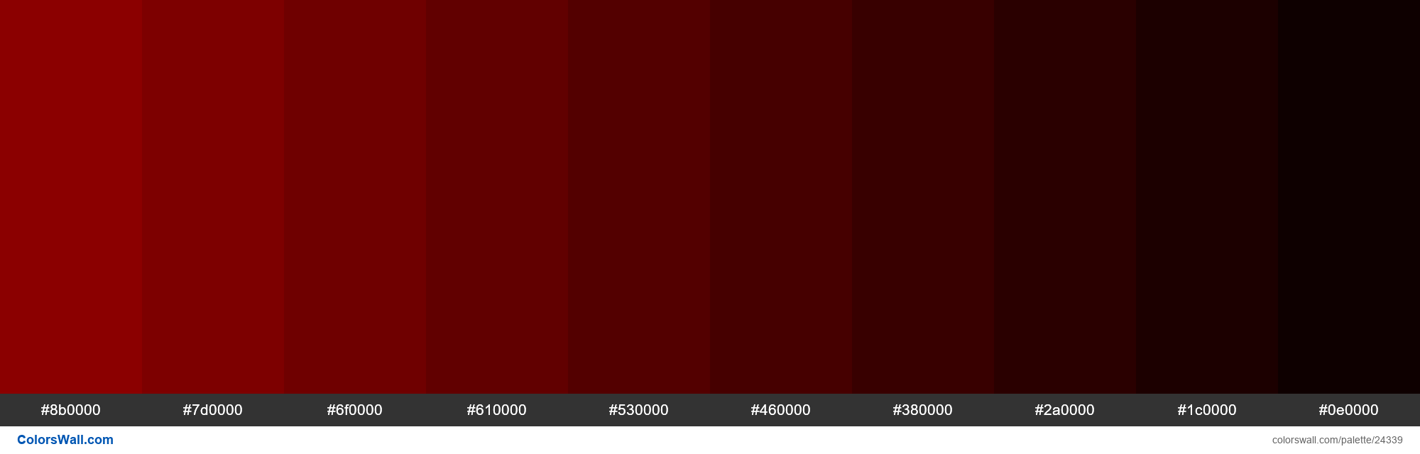 Shades of Dark Red #8B0000 hex color - #24339