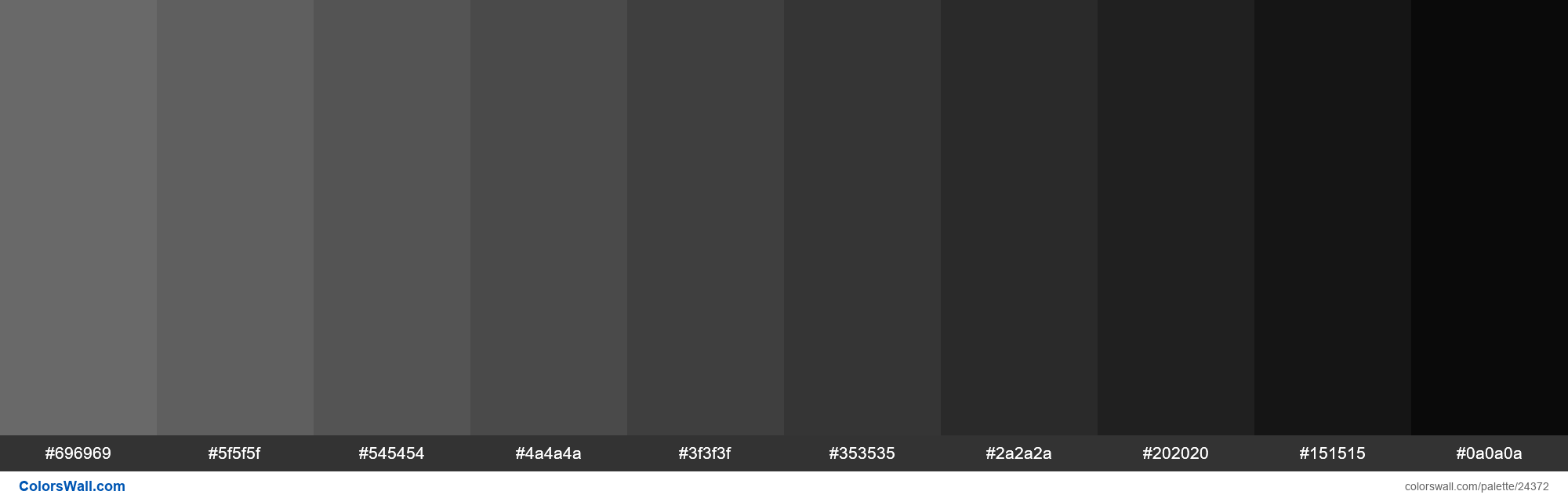 Shades of Dim Gray #696969 hex color - #24372