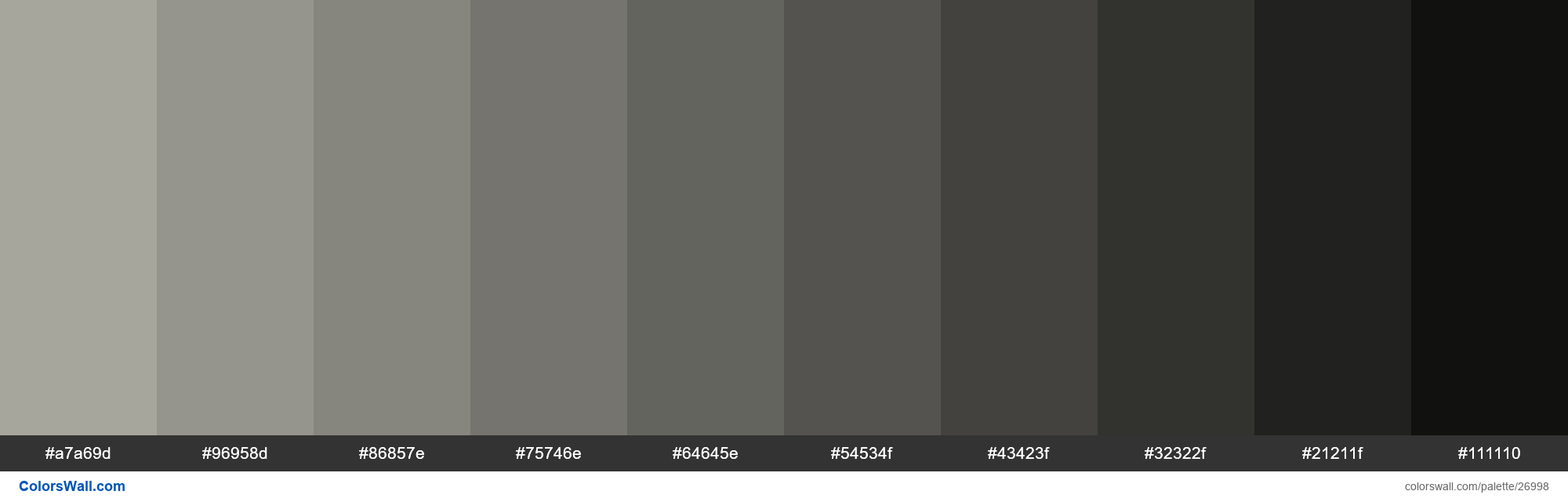 Shades Of Foggy Grey Color A7a69d Hex Hex Rgb Codes