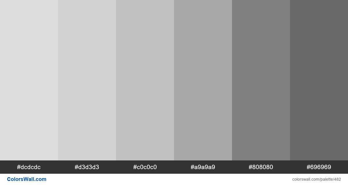 Shades of gray short palette - #482