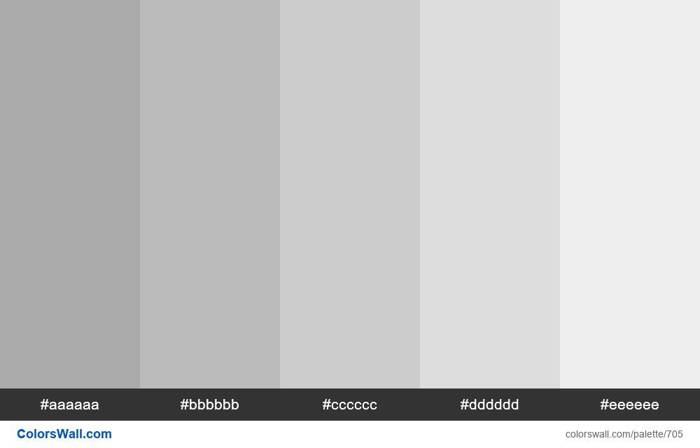 Shades of Grey 5 colors - #705