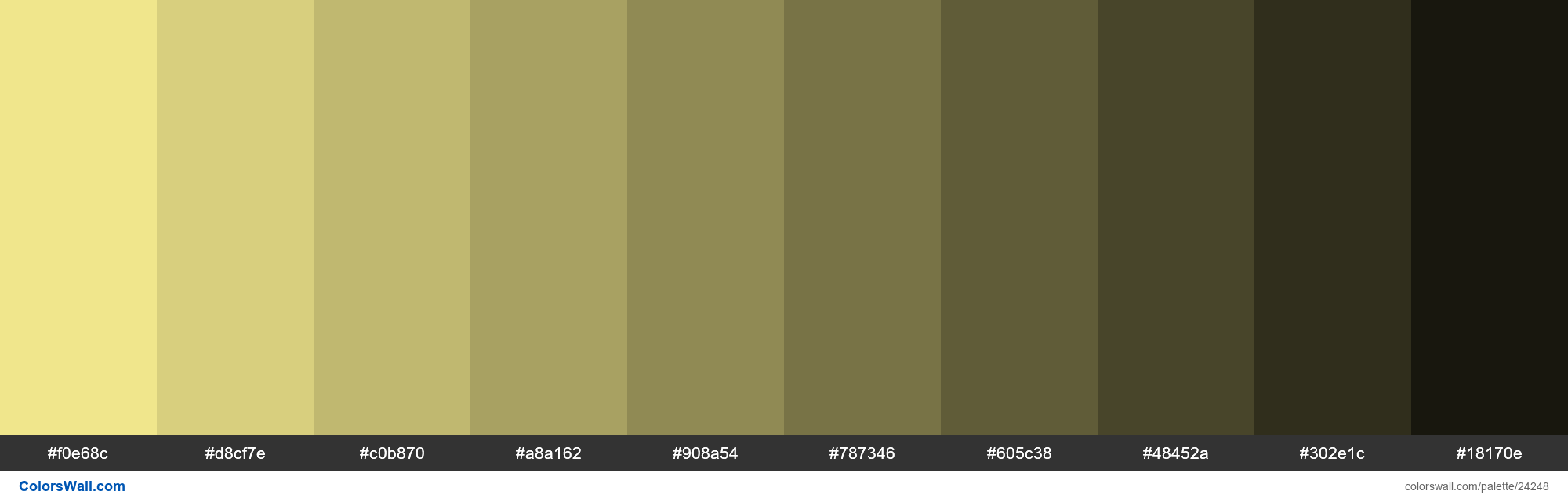 Shades of Khaki #F0E68C hex color - #24248